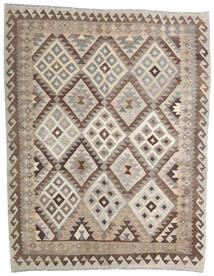 Kilim Afghan Old Style Tappeto 153X195 Orientale Tessuto A Mano Grigio Chiaro/Marrone Scuro (Lana, Afghanistan)