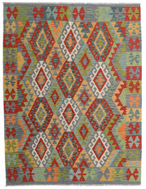 Kilim Afghan Old Style Tappeto 152X201 Orientale Tessuto A Mano Grigio Scuro/Verde Scuro (Lana, Afghanistan)