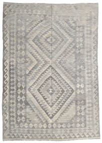 Kilim Afghan Old Style Tappeto 147X212 Orientale Tessuto A Mano Grigio Chiaro (Lana, Afghanistan)