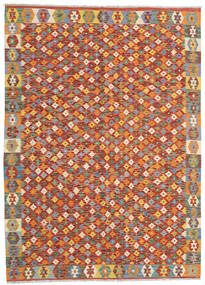Kilim Afghan Old Style Tappeto 168X236 Orientale Tessuto A Mano Rosso Scuro/Arancione (Lana, Afghanistan)