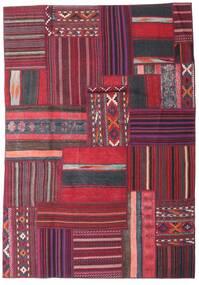 Tekkeh Kilim Tappeto 159X229 Moderno Tessuto A Mano Porpora Scuro/Rosso Scuro (Lana, Persia/Iran)