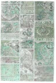 Patchwork - Persien/Iran Tappeto 106X158 Moderno Fatto A Mano Grigio Chiaro/Verde Pastello (Lana, Persia/Iran)