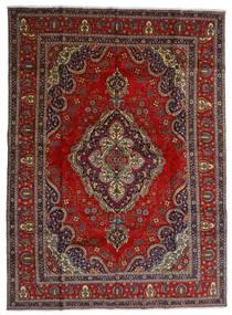 Tabriz Tappeto 300X408 Orientale Fatto A Mano Rosso Scuro/Grigio Scuro Grandi (Lana, Persia/Iran)