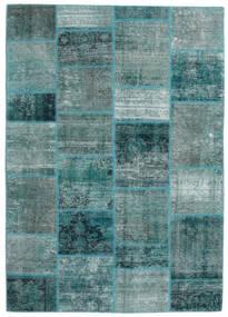 Patchwork - Persien/Iran Tappeto 168X234 Moderno Fatto A Mano Turchese Scuro/Blu Turchese (Lana, Persia/Iran)