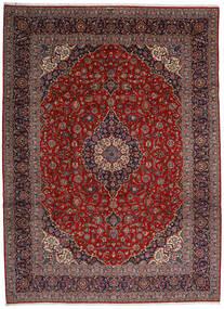Keshan Tappeto 313X428 Orientale Fatto A Mano Rosso Scuro/Grigio Scuro Grandi (Lana, Persia/Iran)