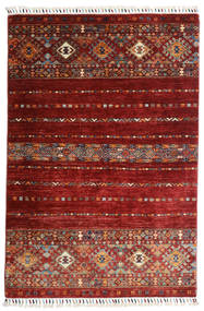 Shabargan Tappeto 102X152 Moderno Fatto A Mano Rosso Scuro (Lana, Afghanistan)
