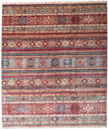 Shabargan Tappeto 243X284 Moderno Fatto A Mano Rosso Scuro/Marrone (Lana, Afghanistan)