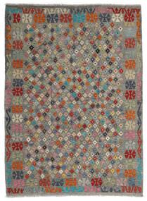 Kilim Afghan Old Style Tappeto 173X236 Orientale Tessuto A Mano Grigio Scuro/Verde Oliva (Lana, Afghanistan)