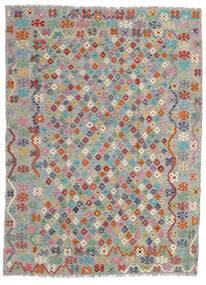 Kilim Afghan Old Style Tappeto 179X240 Orientale Tessuto A Mano Grigio Chiaro/Grigio Scuro (Lana, Afghanistan)