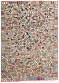 Kilim Afghan Old Style Tappeto 172X240 Orientale Tessuto A Mano Grigio Chiaro/Grigio Scuro (Lana, Afghanistan)