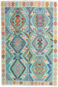 Kilim Afghan Old Style Tappeto 168X252 Orientale Tessuto A Mano Blu Turchese/Beige (Lana, Afghanistan)