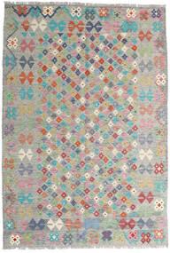 Kilim Afghan Old Style Tappeto 163X236 Orientale Tessuto A Mano Grigio Chiaro (Lana, Afghanistan)