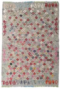 Kilim Afghan Old Style Tappeto 103X150 Orientale Tessuto A Mano Grigio Chiaro/Marrone Scuro (Lana, Afghanistan)