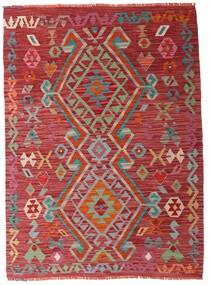 Kilim Afghan Old Style Tappeto 104X144 Orientale Tessuto A Mano Rosso Scuro (Lana, Afghanistan)
