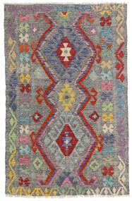 Kilim Afghan Old Style Tappeto 96X149 Orientale Tessuto A Mano Grigio Scuro/Grigio Chiaro (Lana, Afghanistan)