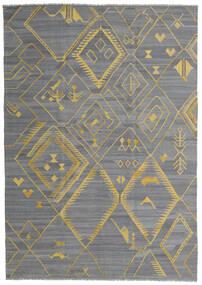 Kilim Ariana Tappeto 200X284 Moderno Tessuto A Mano Azzurro/Grigio Scuro/Grigio Chiaro (Lana, Afghanistan)