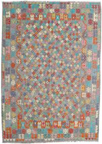 Kilim Afghan Old Style Tappeto 213X300 Orientale Tessuto A Mano Grigio Scuro/Grigio Chiaro (Lana, Afghanistan)