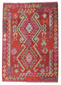 Kilim Afghan Old Style Tappeto 104X145 Orientale Tessuto A Mano Rosso/Ruggine/Rosso (Lana, Afghanistan)