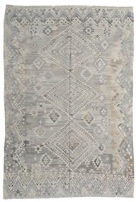 Kilim Moderni Tappeto 212X295 Moderno Tessuto A Mano Grigio Chiaro (Lana, Afghanistan)