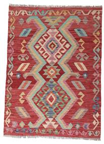 Kilim Afghan Old Style Tappeto 102X140 Orientale Tessuto A Mano Rosso Scuro/Ruggine/Rosso (Lana, Afghanistan)