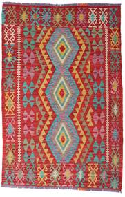 Kilim Afghan Old Style Tappeto 100X153 Orientale Tessuto A Mano Ruggine/Rosso/Rosso Scuro (Lana, Afghanistan)