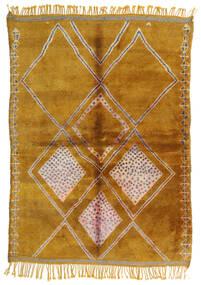 Berber Moroccan - Mid Atlas Tappeto 190X265 Moderno Fatto A Mano Marrone Chiaro/Marrone (Lana, Marocco)