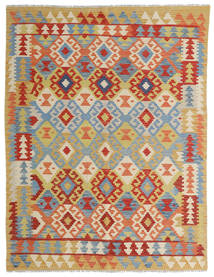 Kilim Afghan Old Style Tappeto 149X198 Orientale Tessuto A Mano Rosso/Beige Scuro (Lana, Afghanistan)