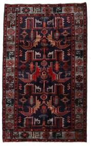 Hamadan Tappeto 131X213 Orientale Fatto A Mano Rosso Scuro (Lana, Persia/Iran)