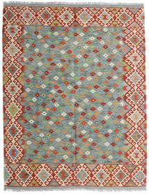 Kilim Afghan Old Style Tappeto 159X196 Orientale Tessuto A Mano Grigio Chiaro/Rosso Scuro (Lana, Afghanistan)