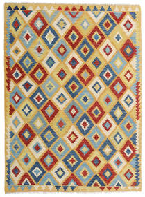 Kilim Afghan Old Style Tappeto 150X206 Orientale Tessuto A Mano Beige Scuro/Grigio Scuro (Lana, Afghanistan)
