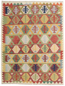 Kilim Afghan Old Style Tappeto 156X203 Orientale Tessuto A Mano Rosso Scuro/Verde Chiaro (Lana, Afghanistan)