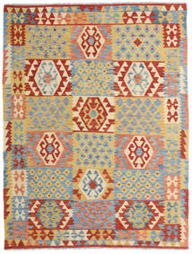 Kilim Afghan Old Style Tappeto 154X202 Orientale Tessuto A Mano Beige Scuro/Rosso Scuro (Lana, Afghanistan)