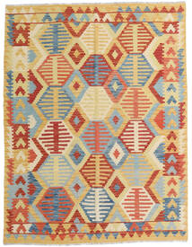 Kilim Afghan Old Style Tappeto 153X200 Orientale Tessuto A Mano Beige Scuro/Rosso (Lana, Afghanistan)