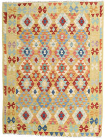 Kilim Afghan Old Style Tappeto 158X210 Orientale Tessuto A Mano Beige Scuro/Rosso (Lana, Afghanistan)