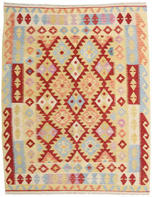 Kilim Afghan Old Style Tappeto 155X192 Orientale Tessuto A Mano Beige Scuro/Rosso Scuro (Lana, Afghanistan)