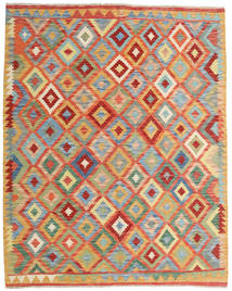 Kilim Afghan Old Style Tappeto 154X194 Orientale Tessuto A Mano Beige Scuro/Rosso (Lana, Afghanistan)