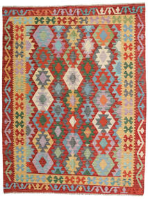 Kilim Afghan Old Style Tappeto 153X200 Orientale Tessuto A Mano Ruggine/Rosso/Rosso Scuro (Lana, Afghanistan)