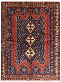 Afshar Tappeto 158X210 Orientale Fatto A Mano Rosso Scuro/Nero (Lana, Persia/Iran)
