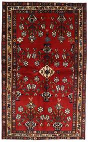 Afshar Tappeto 137X222 Orientale Fatto A Mano Rosso Scuro/Nero/Ruggine/Rosso (Lana, Persia/Iran)