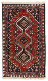 Yalameh Tappeto 60X104 Orientale Fatto A Mano Rosso Scuro/Blu Scuro (Lana, Persia/Iran)
