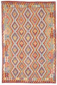 Kilim Afghan Old Style Tappeto 202X300 Orientale Tessuto A Mano Beige Scuro/Grigio Chiaro (Lana, Afghanistan)