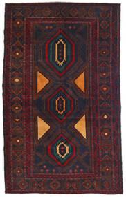 Beluch Tappeto 115X180 Orientale Fatto A Mano Nero/Rosso Scuro (Lana, Afghanistan)