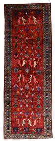 Hamadan Tappeto 108X304 Orientale Fatto A Mano Alfombra Pasillo Rosso Scuro/Ruggine/Rosso/Nero (Lana, Persia/Iran)