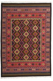 Kilim Marmaris Tappeto 200X300 Moderno Tessuto A Mano Rosso Scuro/Marrone Scuro/Nero (Lana, India)