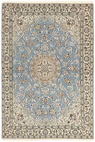 Nain 9La Tappeto 115X175 Orientale Fatto A Mano Grigio Chiaro/Beige (Lana/Seta, Persia/Iran)