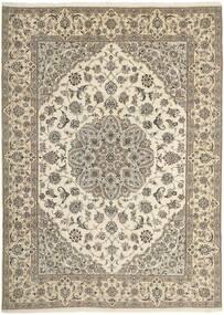 Nain 9La Tappeto 250X347 Orientale Fatto A Mano Grigio Chiaro/Beige Grandi (Lana/Seta, Persia/Iran)
