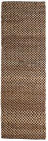 Tappeto Esterno Siri Jute - Natural/Nero Tappeto 80X250 Moderno Tessuto A Mano Alfombra Pasillo Marrone/Marrone Scuro (Tappeto In Iuta India)