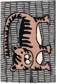 Cool Cat - Grigio/Rosa Tappeto 120X180 Moderno Grigio Scuro/Grigio Chiaro (Lana, India)