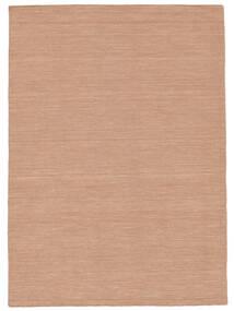 Kilim Loom - Dusty Rose Tappeto 160X230 Moderno Tessuto A Mano Rosso/Rosa Chiaro (Lana, India)