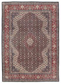 Saruk Tappeto 247X335 Orientale Fatto A Mano Nero/Grigio Chiaro (Lana, Persia/Iran)